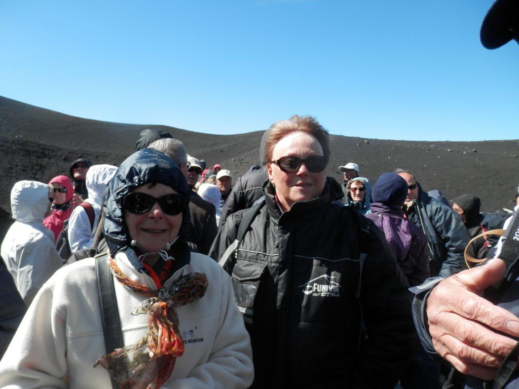 Ascension de l'Etna, il fait très très froid